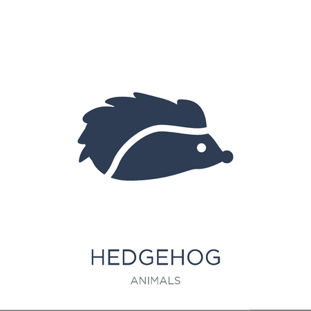 Hedgehog icon. Trendy flat vector Hedgehog icon on white background from animals collection, vector illustration can be use for web and mobile, eps10 Banco de Imagens - 111974587