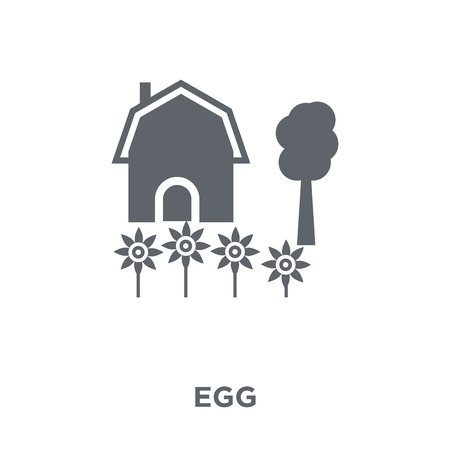 Egg icon. Egg design concept from Agriculture, Farming and Gardening collection. Simple element vector illustration on white background. 版權商用圖片 - 111974590