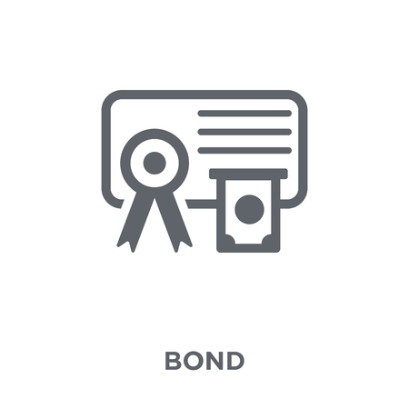 Bond icon. Bond design concept from Bond collection. Simple element vector illustration on white background. Illusztráció