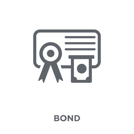 Icona di legame. Concetto di design di Bond dalla collezione Bond. Illustrazione vettoriale semplice elemento su sfondo bianco. Vettoriali