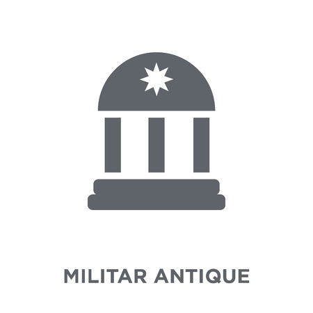 Militar antique building icon. Militar antique building design concept from Army collection. Simple element vector illustration on white background. Foto de archivo - 111974596