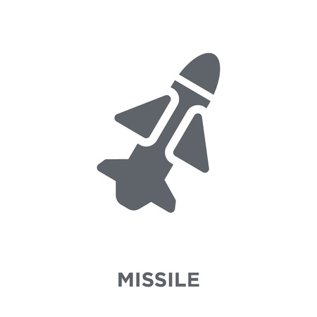 Missile icon. Missile design concept from Army collection. Simple element vector illustration on white background.