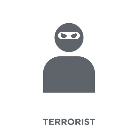 Terrorist icon. Terrorist design concept from Army collection. Simple element vector illustration on white background.