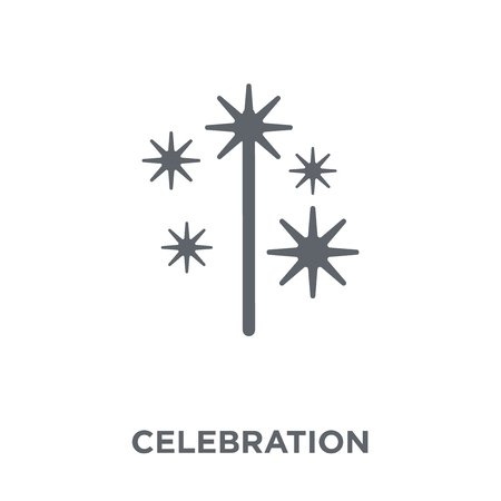 Celebration icon. Celebration design concept from Christmas collection. Simple element vector illustration on white background.