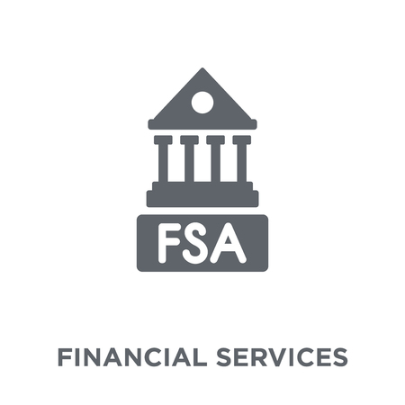 Financial Services Authority design concept from Financial Services Authority collection. Simple element vector illustration on white background.  イラスト・ベクター素材