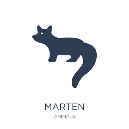 Marten icon. Trendy flat vector Marten icon on white background from animals collection, vector illustration can be use for web and mobile, eps10 Иллюстрация