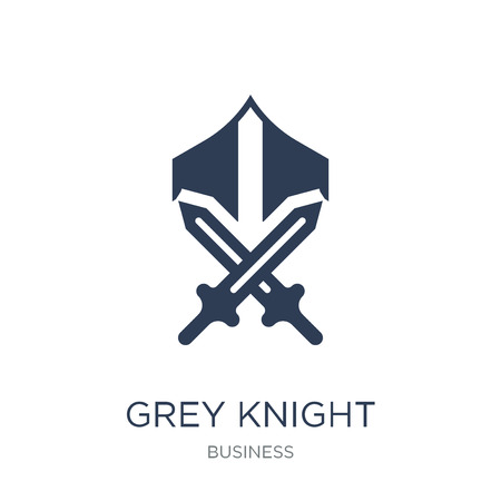 Grey knight icon. Trendy flat vector Grey knight icon on white background from Business collection, vector illustration can be use for web and mobile, eps10 Çizim