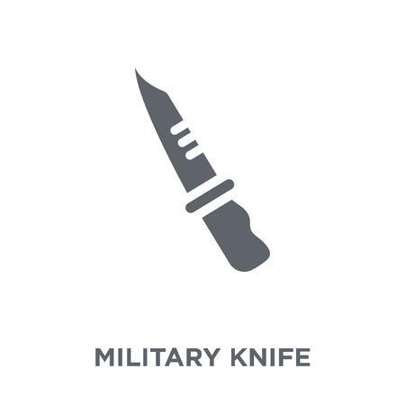 Military Knife icon. Military Knife design concept from Army collection. Simple element vector illustration on white background. Standard-Bild - 111839186