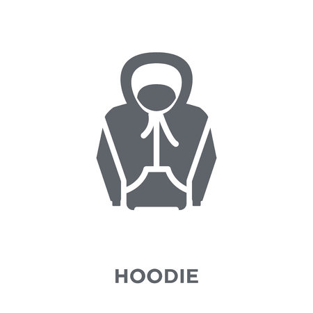 Hoodie icon. Hoodie design concept from  collection. Simple element vector illustration on white background.
