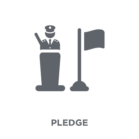 Pledge icon. Pledge design concept from Army collection. Simple element vector illustration on white background. Illusztráció