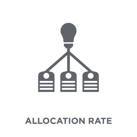 Allocation rate icon. Allocation rate design concept from Allocation rate collection. Simple element vector illustration on white background.