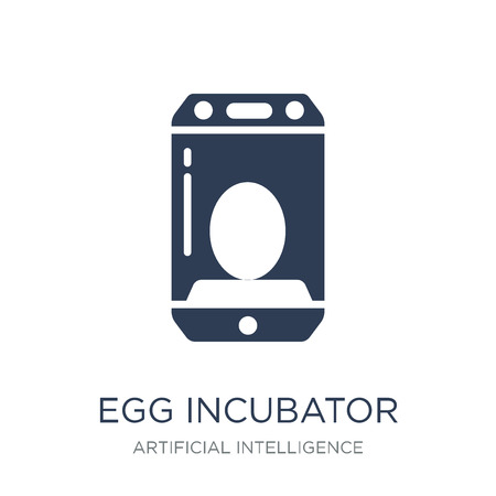 Egg incubator icon. Trendy flat vector Egg incubator icon on white background from Artificial Intelligence, Future Technology collection, vector illustration can be use for web and mobile, eps10 Illustration