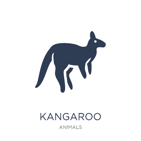 Kangaroo icon. Trendy flat vector Kangaroo icon on white background from animals collection, vector illustration can be use for web and mobile, eps10
