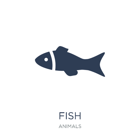 Fish icon. Trendy flat vector Fish icon on white background from animals collection, vector illustration can be use for web and mobile, eps10 Illustration