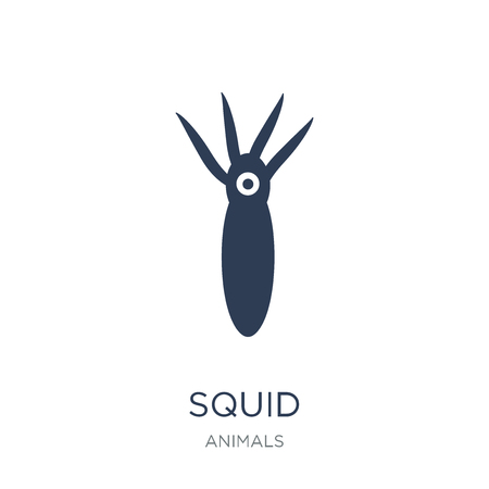 Squid icon. Trendy flat vector Squid icon on white background from animals collection, vector illustration can be use for web and mobile, eps10