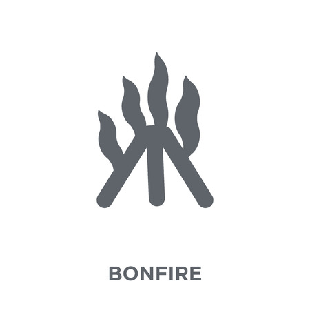 Bonfire icon. Bonfire design concept from Camping collection. Simple element vector illustration on white background.
