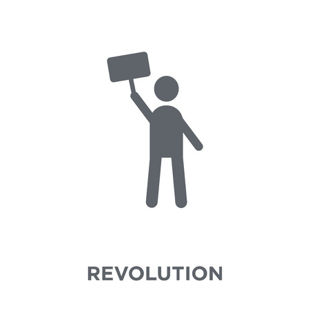 Revolution icon. Revolution design concept from Army collection. Simple element vector illustration on white background. 版權商用圖片 - 111974654