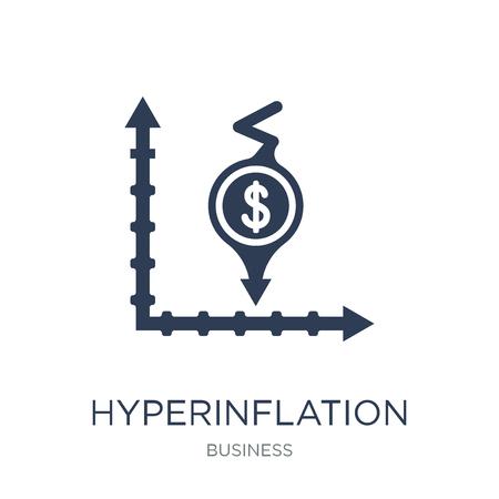 Icône d'hyperinflation. Icône hyperinflation vecteur plat sur fond blanc de la collection Business, illustration vectorielle peut être utilisé pour le web et mobile, eps10
