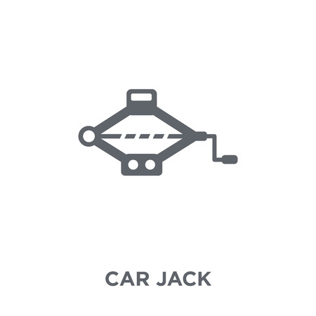car jack icon. car jack design concept from Car parts collection. Simple element vector illustration on white background.
