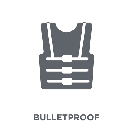 Bulletproof icon. Bulletproof design concept from Army collection. Simple element vector illustration on white background. Ilustração