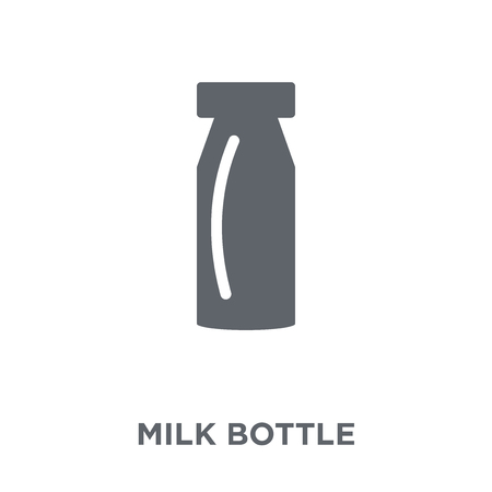 Milk bottle icon. Milk bottle design concept from Agriculture, Farming and Gardening collection. Simple element vector illustration on white background.