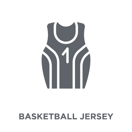 Basketball jersey icon. Basketball jersey design concept from Clothes collection. Simple element vector illustration on white background.