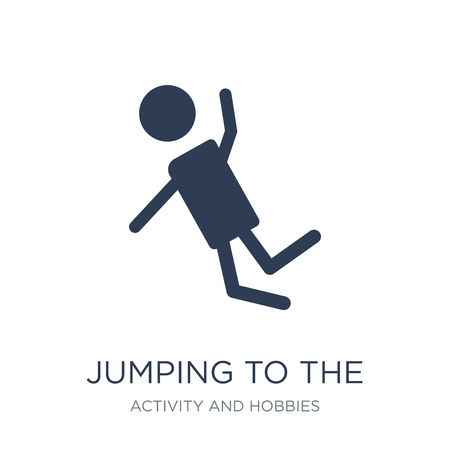 Jumping to the water icon. Trendy flat vector Jumping to the water icon on white background from Activity and Hobbies collection, vector illustration can be use for web and mobile, eps10