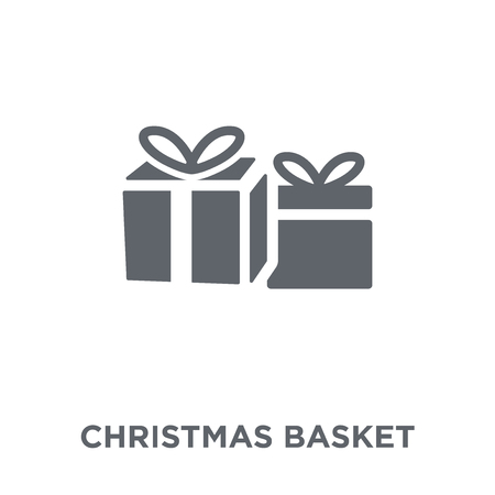 christmas Basket icon. christmas Basket design concept from Christmas collection. Simple element vector illustration on white background.