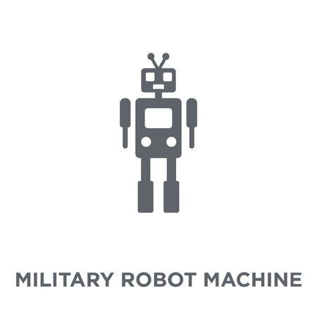 Military robot machine icon. Military robot machine design concept from Army collection. Simple element vector illustration on white background.