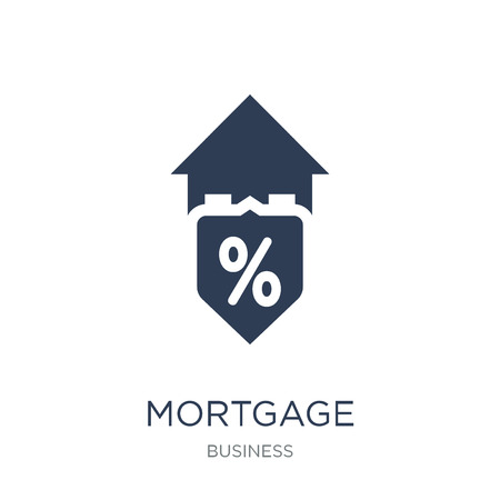 Mortgage indemnity protection/guarantee icon. Trendy flat vector Mortgage indemnity protection/guarantee icon on white background from Business collection, vector illustration can be use for web and mobile, eps10