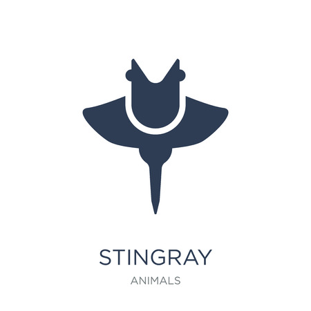 Stingray icon. Trendy flat vector Stingray icon on white background from animals collection, vector illustration can be use for web and mobile, eps10 Ilustração