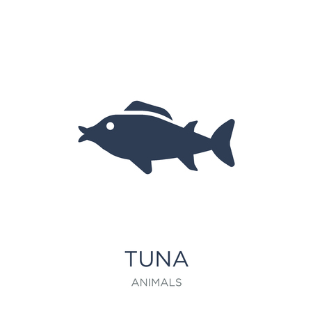 Tuna icon. Trendy flat vector Tuna icon on white background from animals collection, vector illustration can be use for web and mobile, eps10 Illustration