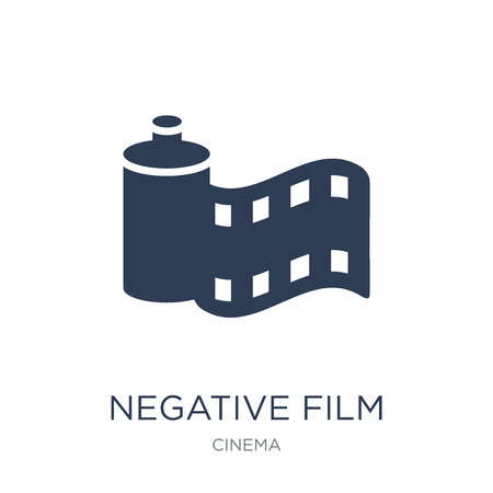 Negative film icon. Trendy flat vector Negative film icon on white background from Cinema collection, vector illustration can be use for web and mobile, eps10  イラスト・ベクター素材