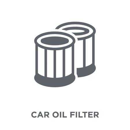 car oil filter icon. car oil filter design concept from Car parts collection. Simple element vector illustration on white background. Vektoros illusztráció
