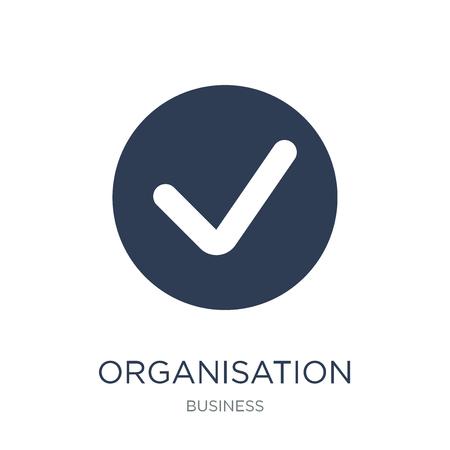 Icône de l'Organisation de coopération et de développement économiques de vecteur à la mode sur un fond blanc de la collection d'affaires, illustration vectorielle peut être utilisé pour le web et mobile, eps10