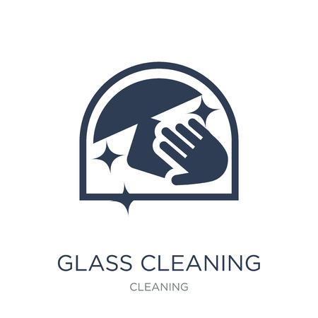 Symbol für die Glasreinigung. Trendiges flaches Vektor-Glasreinigungssymbol auf weißem Hintergrund aus der Reinigungssammlung, Vektorillustration kann für Web und Mobile verwendet werden, eps10 Vektorgrafik