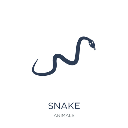 Snake icon. Trendy flat vector Snake icon on white background from animals collection, vector illustration can be use for web and mobile, eps10