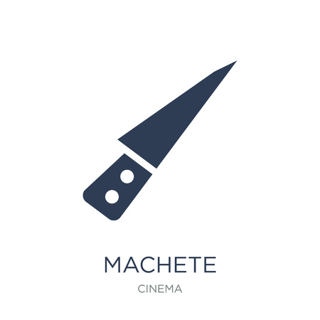 machete icon. Trendy flat vector machete icon on white background from Cinema collection, vector illustration can be use for web and mobile, eps10