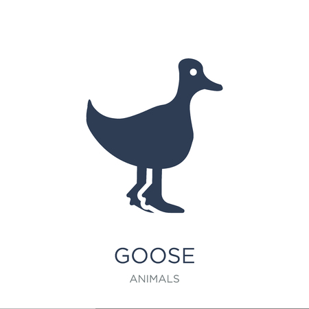 Goose icon. Trendy flat vector Goose icon on white background from animals collection, vector illustration can be use for web and mobile, eps10 Illusztráció