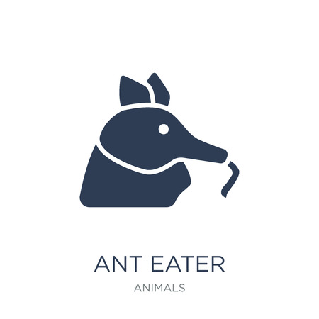 Ant eater icon. Trendy flat vector Ant eater icon on white background from animals collection, vector illustration can be use for web and mobile, eps10 向量圖像