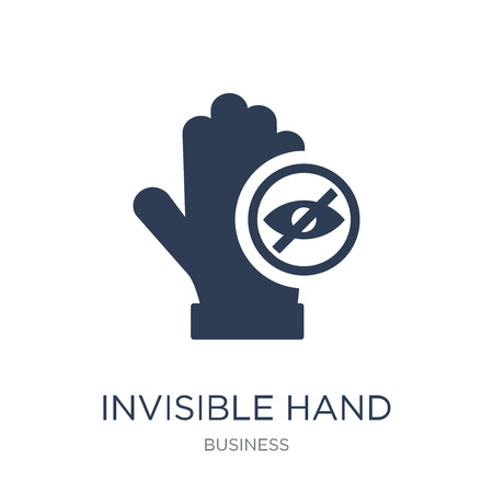 Invisible hand icon. Trendy flat vector Invisible hand icon on white background from Business collection, vector illustration can be use for web and mobile, eps10