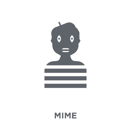 Mime icon. Mime design concept from Circus collection. Simple element vector illustration on white background.