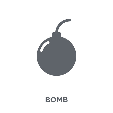 Bomb icon. Bomb design concept from Army collection. Simple element vector illustration on white background. Illustration