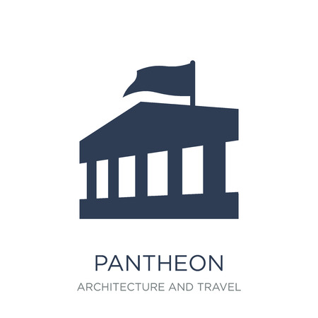 Pantheon icon. Trendy flat vector Pantheon icon on white background from Architecture and Travel collection, vector illustration can be use for web and mobile, eps10