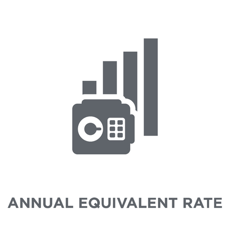 Annual equivalent rate (AER) icon. Annual equivalent rate (AER) design concept from Annual equivalent rate (AER) collection. Simple element vector illustration on white background. Фото со стока - 111974716