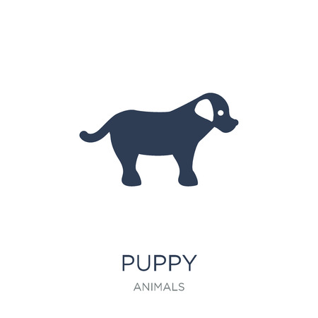 puppy icon. Trendy flat vector puppy icon on white background from animals collection, vector illustration can be use for web and mobile, eps10 Иллюстрация