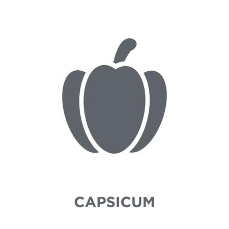 Capsicum icon. Capsicum design concept from Agriculture, Farming and Gardening collection. Simple element vector illustration on white background. Illustration