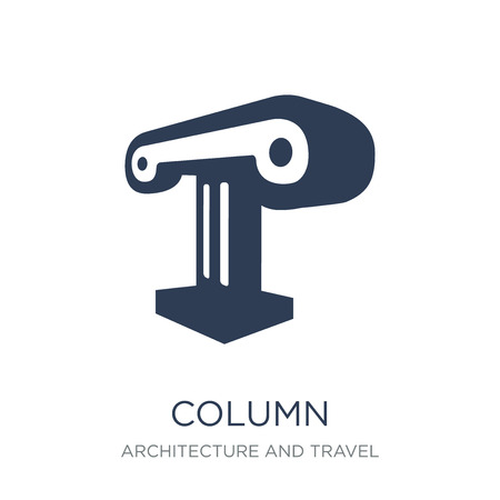Column icon. Trendy flat vector Column icon on white background from Architecture and Travel collection, vector illustration can be use for web and mobile, eps10 Stok Fotoğraf - 111913262
