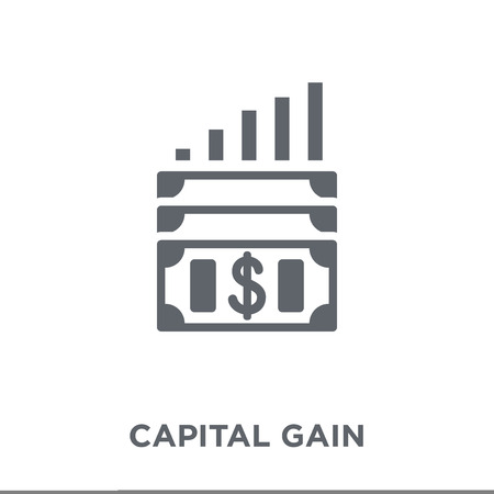 Capital gain icon. Capital gain design concept from Capital gain collection. Simple element vector illustration on white background.