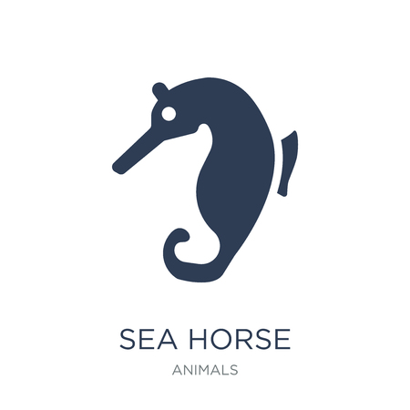 Sea Horse icon. Trendy flat vector Sea Horse icon on white background from animals collection, vector illustration can be use for web and mobile